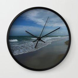Serene Beach Scene Wall Clock