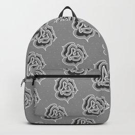 gray roses Big  Backpack