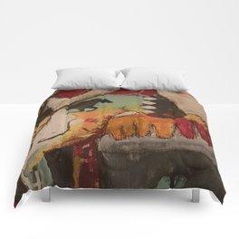 Spirit Horses Close up Comforters