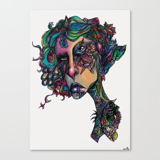 All in The Colors Canvas Print