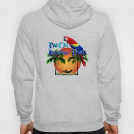 Island Time And Parrot Hoody