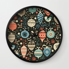 Festive Folk Charms Wall Clock