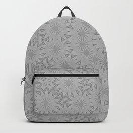 Shades of Grey Mandala Kaleidoscope A171B Backpack