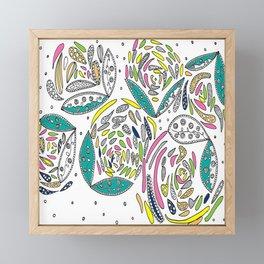 Stylish White Floral Framed Mini Art Print