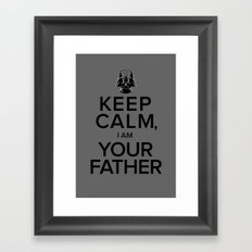 Keep Calm, I Am Your Father Framed Art Print