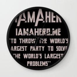 I Am A Hero Initiative Wall Clock