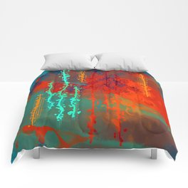 Abstract In Southwest Colors Comforters