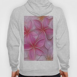 The Lost Floral Tablet- Pink Flowers  created into Art Hoody