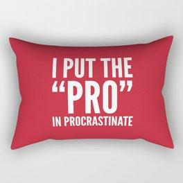 I PUT THE PRO IN PROCRASTINATE (Crimson) Rectangular Pillow
