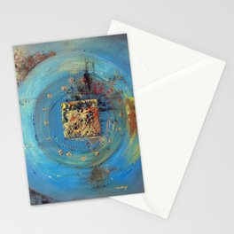 Of the Earth 4 by Nadia J Art Stationery Cards