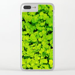 Green Clover Clear iPhone Case