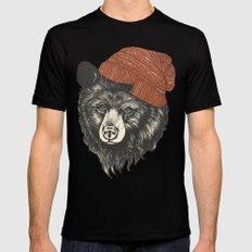 zissou the bear Mens Fitted Tee Black MEDIUM