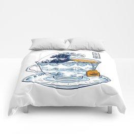The Great Kanagawa Tea Comforters