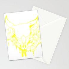 Flower Power Skull Stationery Cards