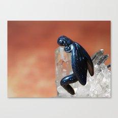 Dragon on Quartz crystals Canvas Print