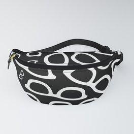 Smart Glasses Pattern - White on Black Fanny Pack