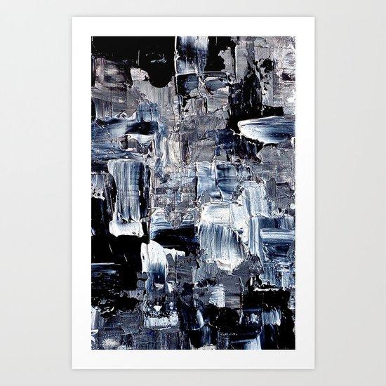 50 Shades... - black & white abstract painting Art Print