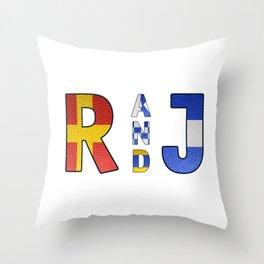 Romeo and Juliet - Navy Code Throw Pillow