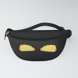 Funny Tacos Boobs Top Bra print for Mexican Woman Fanny Pack