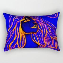 Lotus Turtle Red Fire Rectangular Pillow