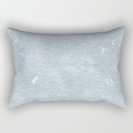 distressed chambray denim Rectangular Pillow