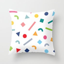 geometric funfetti Throw Pillow