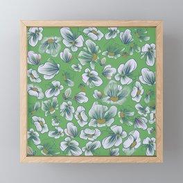 Whimsical Flowers Framed Mini Art Print