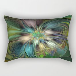 Colorful Abstract Fractal Art Rectangular Pillow