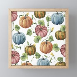 PUMPKINS WATERCOLOR Framed Mini Art Print