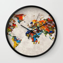 World Map 43 Wall Clock
