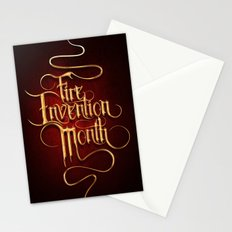 Fire Invention Month Stationery Cards