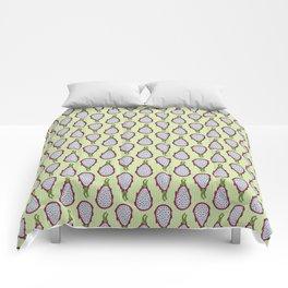 Dragonfruit - Lime Green Doodle Pattern Comforters
