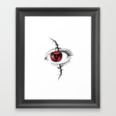 Sharingan Eyes Framed Art Print