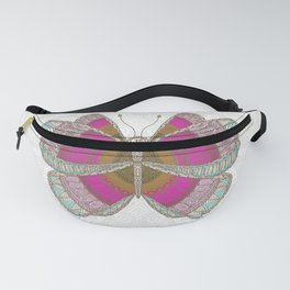 Pink Butterfly Fanny Pack