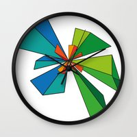 3d Wall Clocks featuring 3D by MeMRB