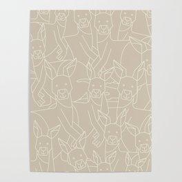 Minimalist Kangaroo Poster