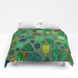 squirrel in forest Comforters