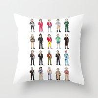 bill Throw Pillows featuring Murrays by Derek Eads