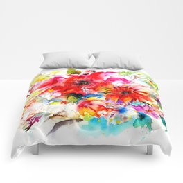 Watercolor garden II Comforters