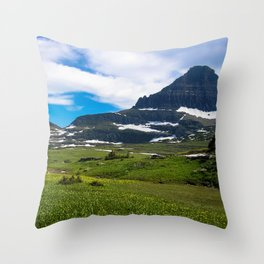 Logans Pass, Glacier National Park Throw Pillow