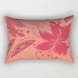 Samoa Watermelon Polynesian Floral Rectangular Pillow