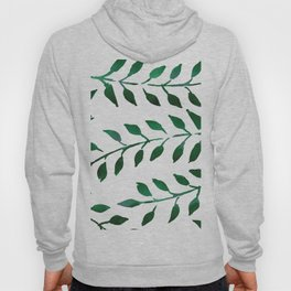 Green Watercolor Fronds Hoody