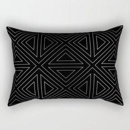 Angled Black & Silver Rectangular Pillow