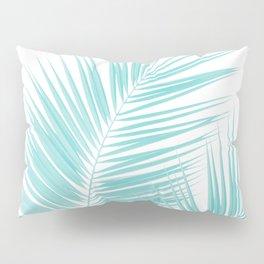 Soft Turquoise Palm Leaves Dream - Cali Summer Vibes #1 #tropical #decor #art #society6 Pillow Sham