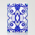 Blue morning - abstract decorative pattern by 7rayeddesigns