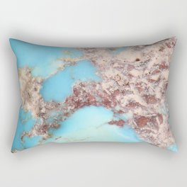Rugged Turquoise Nugget Rectangular Pillow