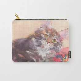 Kitten's Bed of Roses Carry-All Pouch