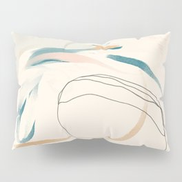Abstract Lines On Cream. Pillow Sham