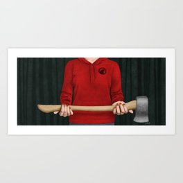 Little Red Art Print