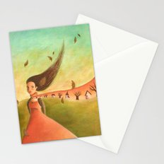Autumn Lady Stationery Cards